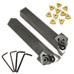 Portautensili per tornio WWLNR / L1616H / K08 16x100mm con inserti WNMG080404 da 10 pezzi