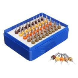 Drillpro 50 pezzi 0,25-0,45 mm carburo di tungsteno micro punta per trapano PCB per circuito stampato