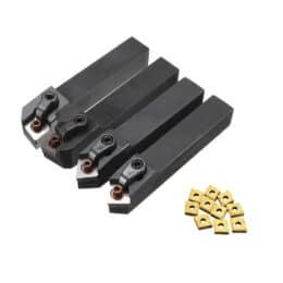 Drillpro 4 pezzi MCMNN1616H12 MCGNR1616H12 MCMNN1616H12 MCGNL1616K12 Portautensili per tornio con inserto in metallo duro 10 pezzi CNMG120408