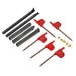 Portautensili per tornio indicizzabile con codolo 5mm 8mm con inserti in metallo duro CCMT060204 DCMT070204 per macchina CNC