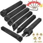 Set di utensili per tornio a controllo numerico con gambo 7mm 12mm con inserti in metallo duro