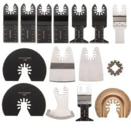 15pcs kit lame per strumenti oscillanti multitool oscillanti Rockwell Sonicrafter Worx