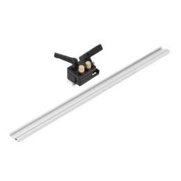 Drillpro 600/800/1000 / 1220mm Binario a T in lega di alluminio per lavorazione del legno Binario a T con scanalatura a T con scala / Ferma traccia