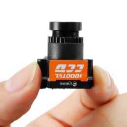 Eachine 1000TVL 1/3 CCD 110 gradi 2.8mm Lens Wide Voltage 5-20V Mini FPV Camera NTSC PAL commutabile